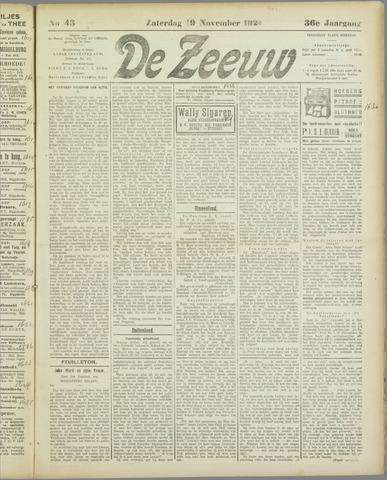 De Zeeuw. Christelijk-historisch nieuwsblad voor Zeeland 1921-11-19