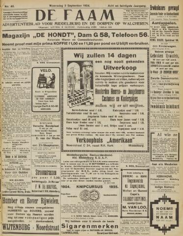 de Faam en de Faam/de Vlissinger 1924-09-03