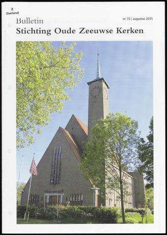 Bulletin Stichting Oude Zeeuwse kerken 2015-08-01