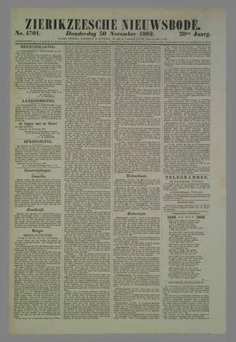 Zierikzeesche Nieuwsbode 1882-11-30