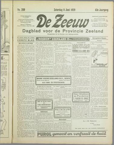 De Zeeuw. Christelijk-historisch nieuwsblad voor Zeeland 1929-06-08