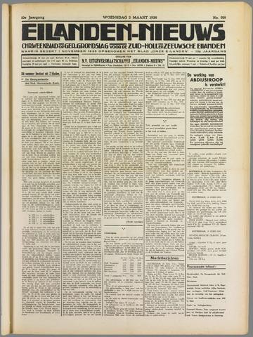Eilanden-nieuws. Christelijk streekblad op gereformeerde grondslag 1938-03-02