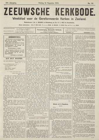 Zeeuwsche kerkbode, weekblad gewijd aan de belangen der gereformeerde kerken/ Zeeuwsch kerkblad 1923-08-10