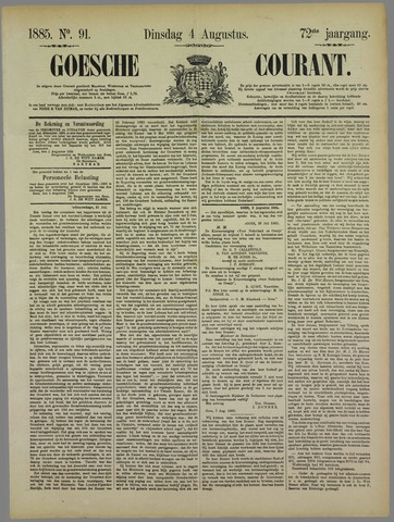 Goessche Courant 1885-08-04