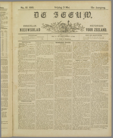 De Zeeuw. Christelijk-historisch nieuwsblad voor Zeeland 1901-05-03