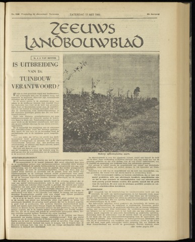Zeeuwsch landbouwblad ... ZLM land- en tuinbouwblad 1961-05-13