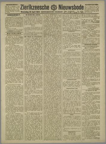 Zierikzeesche Nieuwsbode 1922-04-26