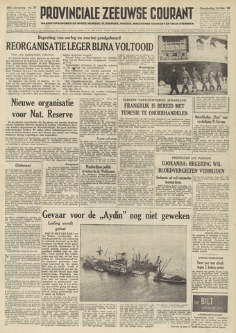 Provinciale Zeeuwse Courant 1958-02-13