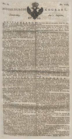 Middelburgsche Courant 1777-08-07