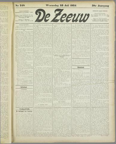 De Zeeuw. Christelijk-historisch nieuwsblad voor Zeeland 1924-07-23
