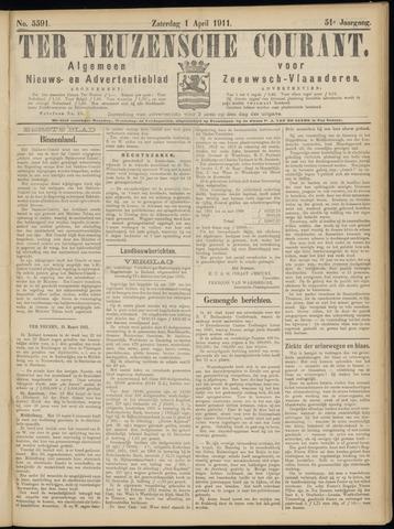 Ter Neuzensche Courant. Algemeen Nieuws- en Advertentieblad voor Zeeuwsch-Vlaanderen / Neuzensche Courant ... (idem) / (Algemeen) nieuws en advertentieblad voor Zeeuwsch-Vlaanderen 1911-04-01