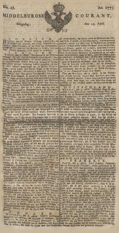 Middelburgsche Courant 1775-04-25