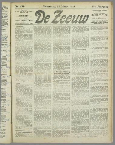 De Zeeuw. Christelijk-historisch nieuwsblad voor Zeeland 1918-03-13