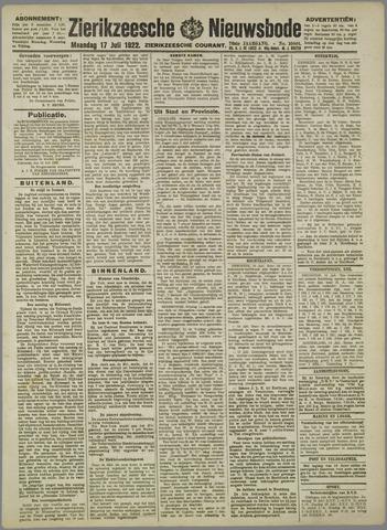 Zierikzeesche Nieuwsbode 1922-07-17