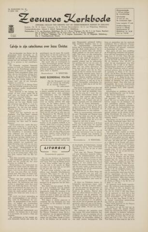 Zeeuwsche kerkbode, weekblad gewijd aan de belangen der gereformeerde kerken/ Zeeuwsch kerkblad 1964-06-19