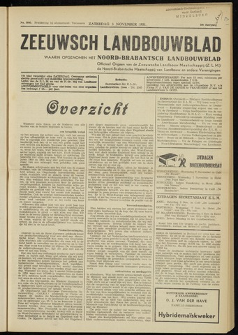 Zeeuwsch landbouwblad ... ZLM land- en tuinbouwblad 1951-11-03