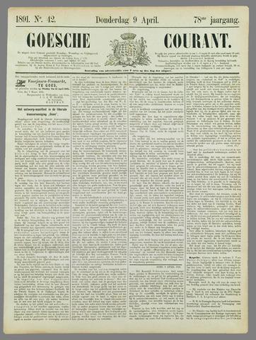 Goessche Courant 1891-04-09