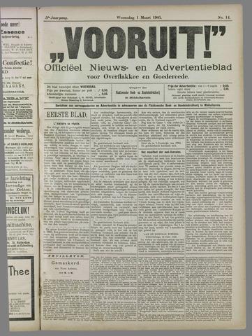 """""""Vooruit!""""Officieel Nieuws- en Advertentieblad voor Overflakkee en Goedereede 1905-03-01"""