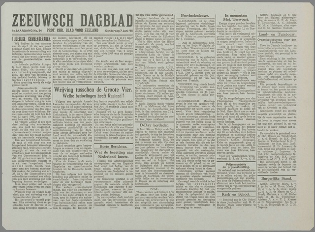Zeeuwsch Dagblad 1945-06-07