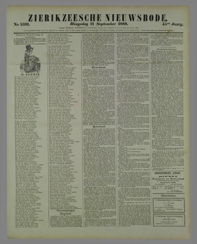 Zierikzeesche Nieuwsbode 1888-09-11