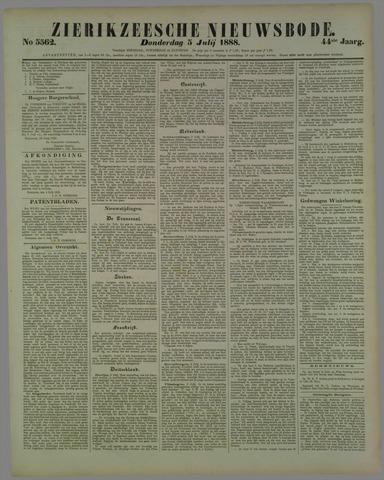 Zierikzeesche Nieuwsbode 1888-07-05