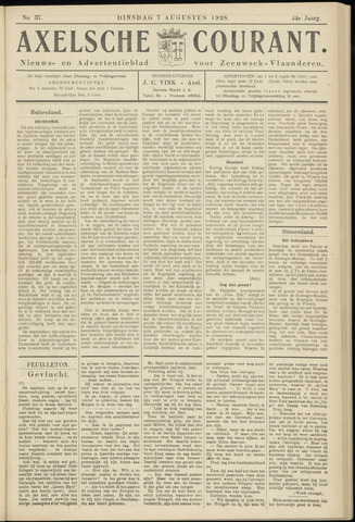 Axelsche Courant 1928-08-07