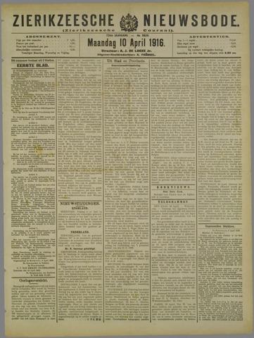 Zierikzeesche Nieuwsbode 1916-04-10