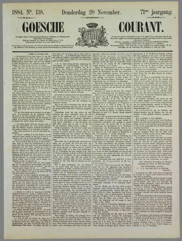 Goessche Courant 1884-11-20