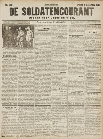 De Soldatencourant. Orgaan voor Leger en Vloot 1916-12-01