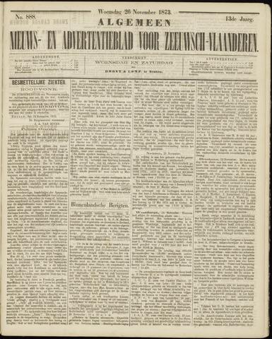 Ter Neuzensche Courant. Algemeen Nieuws- en Advertentieblad voor Zeeuwsch-Vlaanderen / Neuzensche Courant ... (idem) / (Algemeen) nieuws en advertentieblad voor Zeeuwsch-Vlaanderen 1873-11-26