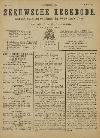 Zeeuwsche kerkbode, weekblad gewijd aan de belangen der gereformeerde kerken/ Zeeuwsch kerkblad 1889-08-10