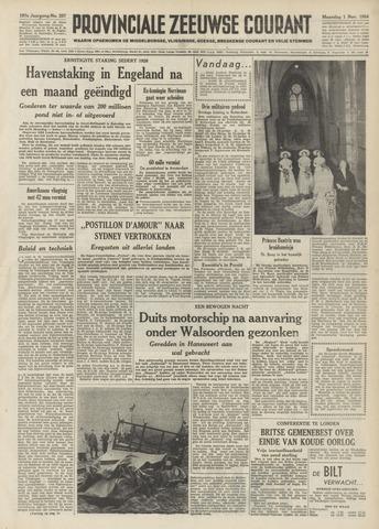 Provinciale Zeeuwse Courant 1954-11-01