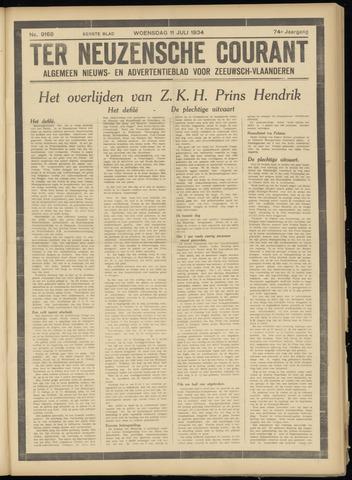 Ter Neuzensche Courant. Algemeen Nieuws- en Advertentieblad voor Zeeuwsch-Vlaanderen / Neuzensche Courant ... (idem) / (Algemeen) nieuws en advertentieblad voor Zeeuwsch-Vlaanderen 1934-07-11