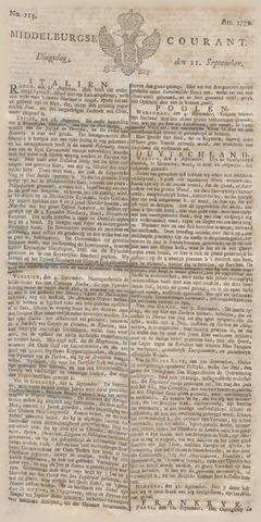 Middelburgsche Courant 1779-09-21