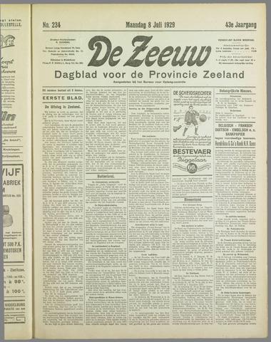 De Zeeuw. Christelijk-historisch nieuwsblad voor Zeeland 1929-07-08
