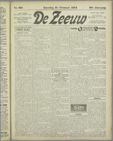 De Zeeuw. Christelijk-historisch nieuwsblad voor Zeeland 1924-02-23