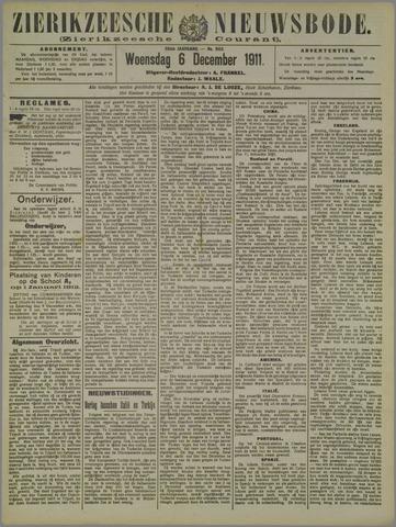 Zierikzeesche Nieuwsbode 1911-12-06