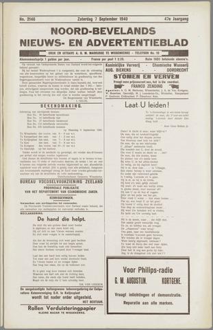 Noord-Bevelands Nieuws- en advertentieblad 1940-09-07