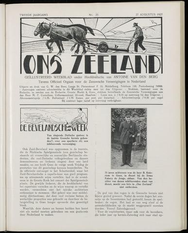 Ons Zeeland / Zeeuwsche editie 1927-08-27