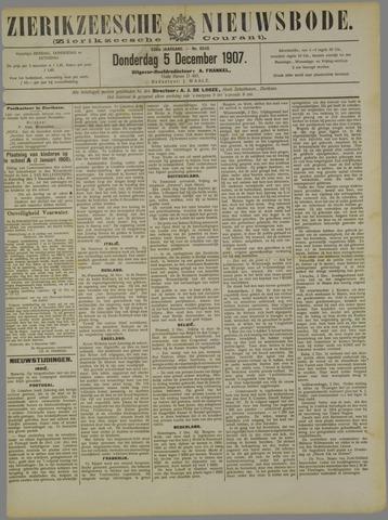 Zierikzeesche Nieuwsbode 1907-12-05