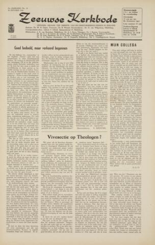 Zeeuwsche kerkbode, weekblad gewijd aan de belangen der gereformeerde kerken/ Zeeuwsch kerkblad 1966-10-14