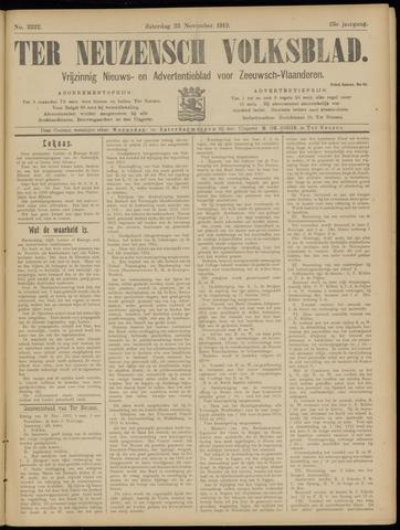 Ter Neuzensch Volksblad. Vrijzinnig nieuws- en advertentieblad voor Zeeuwsch- Vlaanderen / Zeeuwsch Nieuwsblad. Nieuws- en advertentieblad voor Zeeland 1912-11-23