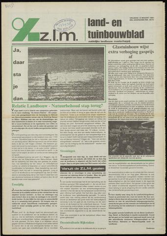 Zeeuwsch landbouwblad ... ZLM land- en tuinbouwblad 1981-03-13