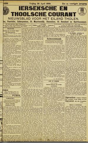 Ierseksche en Thoolsche Courant 1929-04-26