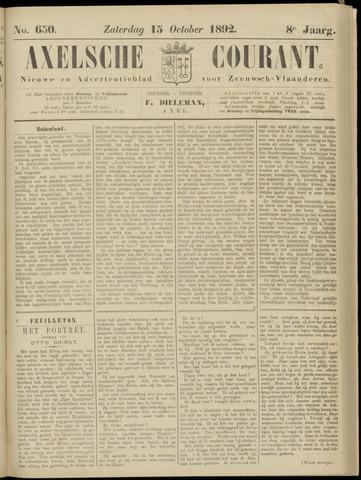 Axelsche Courant 1892-10-15