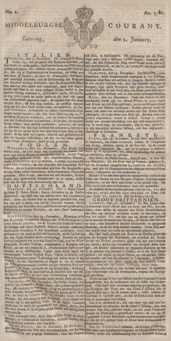 Middelburgsche Courant 1780