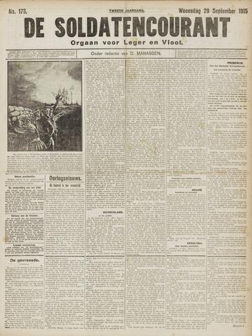 De Soldatencourant. Orgaan voor Leger en Vloot 1915-09-29