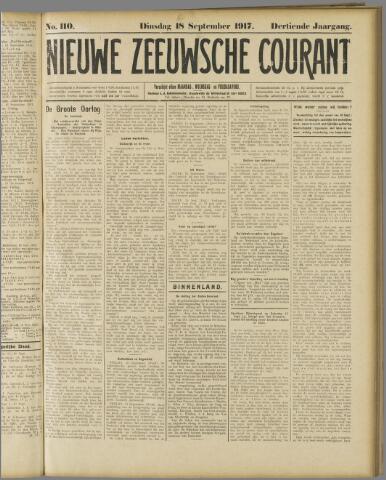 Nieuwe Zeeuwsche Courant 1917-09-18