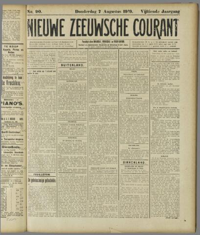 Nieuwe Zeeuwsche Courant 1919-08-07