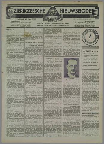 Zierikzeesche Nieuwsbode 1936-07-27